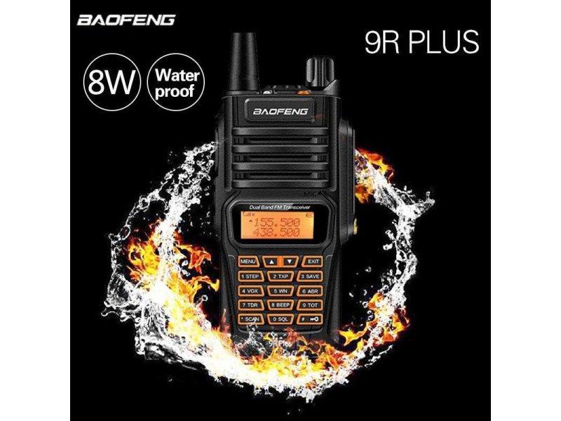 Ασύρματος αδιάβροχος  πομποδέκτης Baofeng UV-9R Plus Dual Band 8 Watt
