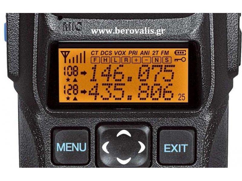 Recent RS-589 Ασύρματος επαγγελματικός πομποδέκτης Dual Band Vhf-Uhf 10 Watt