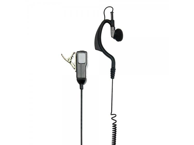 Midland MA21-LK Μικροακουστικό Handsfree σιλικόνης με μικρόφωνο πέτου και βύσμα 2 Pin Kenwood/Baofeng