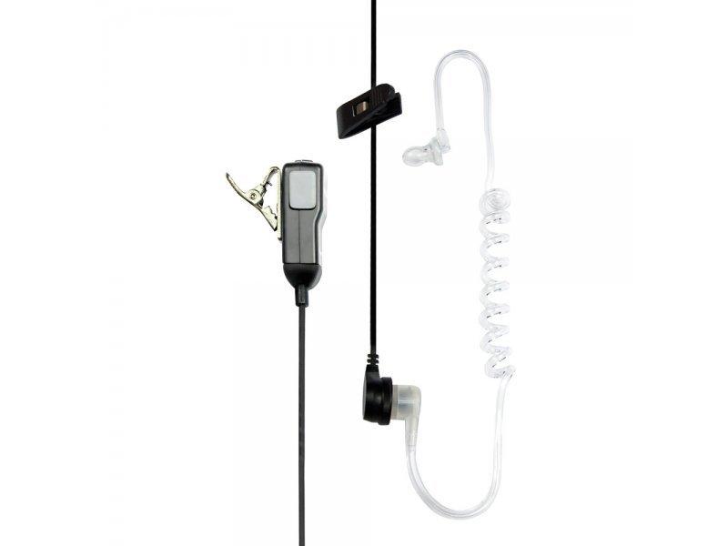 Midland MA31-LK Μικροακουστικό σιλικόνης με διάφανο σπιράλ Airtube και μικρόφωνο πέτου με βύσμα 2 Pin Kenwood/Baofeng