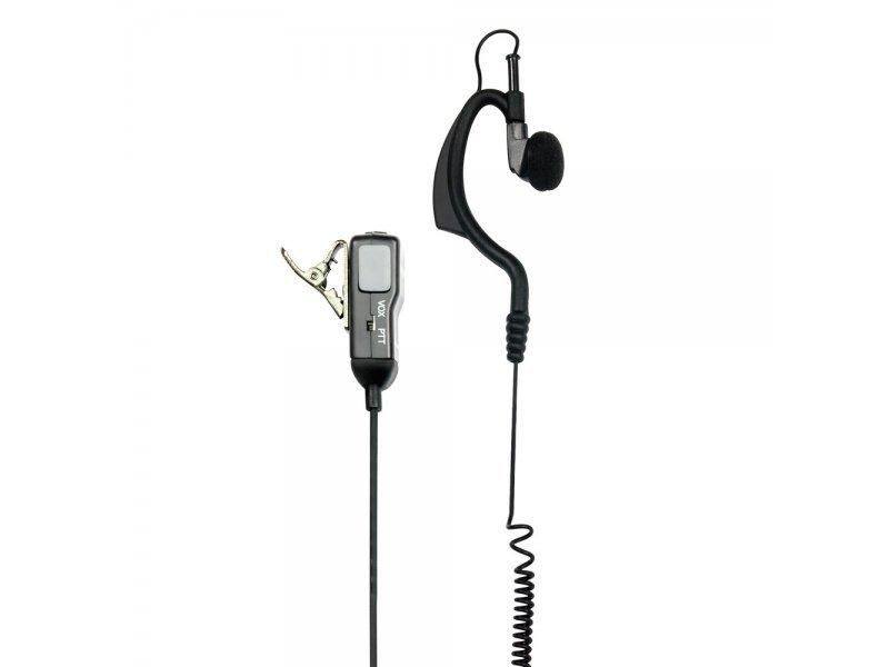 Midland MA-21L Μικροακουστικό Handsfree σιλικόνης με μικρόφωνο πέτου 2 Pin για Midland
