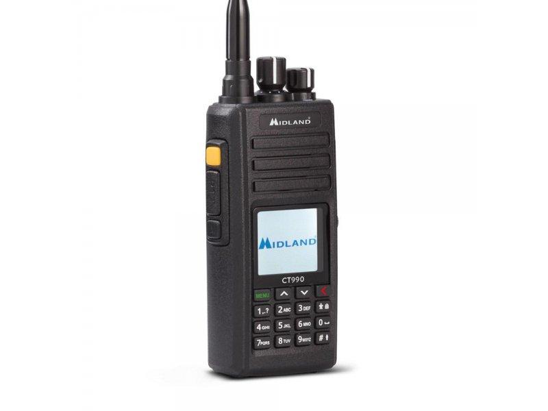Midland Ct-990 αδιάβροχος φορητός πομποδέκτης Dual Band Vhf/Uhf 10 Watt