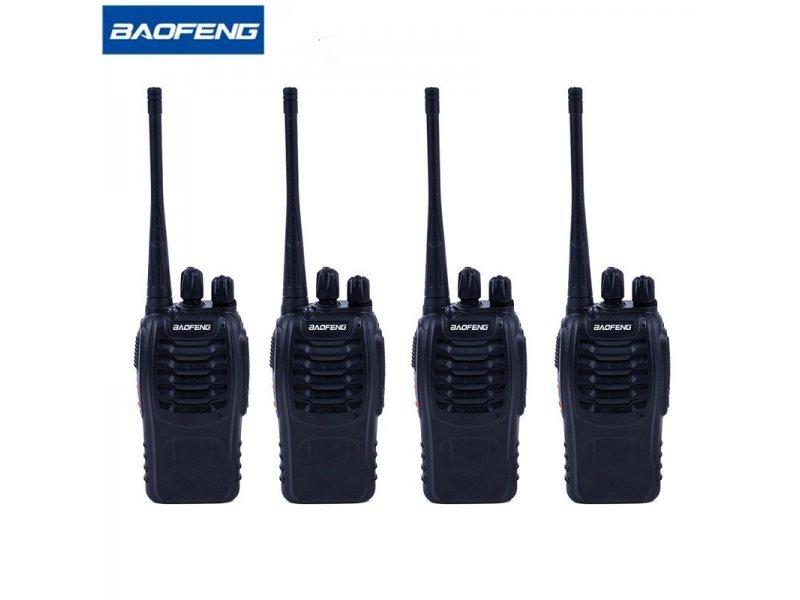 4 Τεμάχια Baofeng BF-888S Φορητοί επαγγελματικοί ασύρματοι πομποδέκτες PMR για επαγγελματική ή ερασιτεχνική χρήση