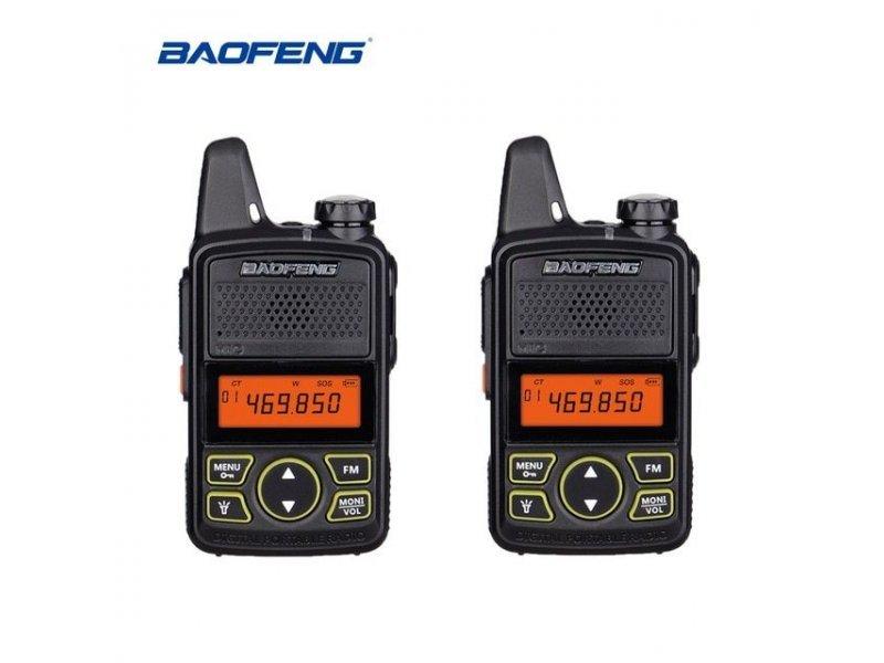 2 Τεμάχια Baofeng T1 μινι Φορητοί Επαγγελματικοί ασύρματοι Uhf για ερασιτεχνική ή επαγγελματική χρήση